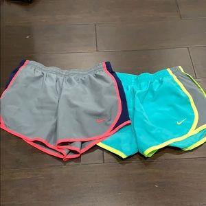 2 dri-fit Nike childrens shorts